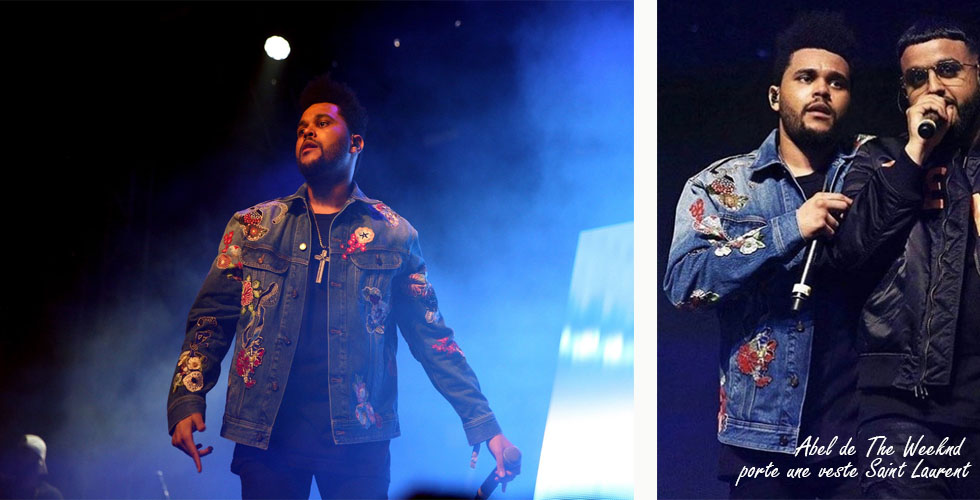 Abel de The Weeknd porte une veste Saint Laurent au festival Coachella